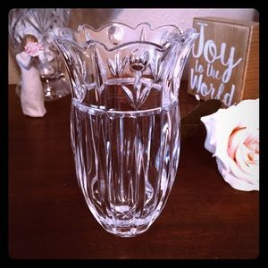"""Other - Clear Cut Glass Vase 7"""" Tall"""